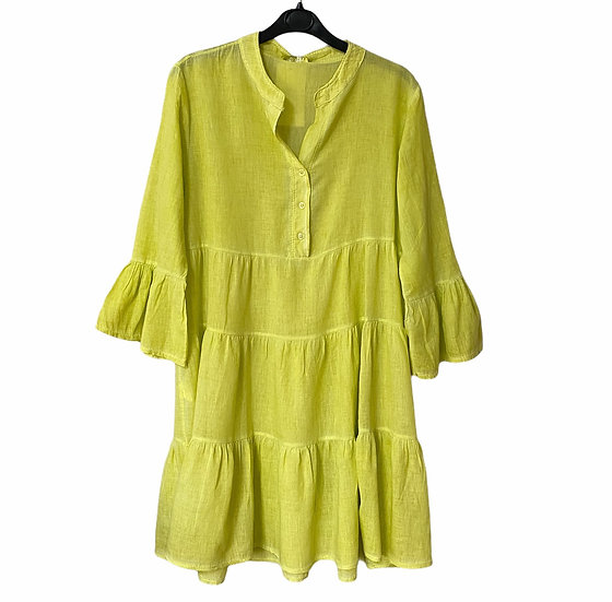 Italian Collection Acid Yellow Tunic Dress