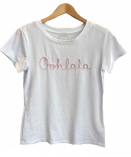 Parisian Style 'Oohlala' White Tee