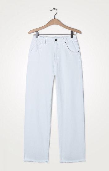 American Vintage White Wide Leg Jeans