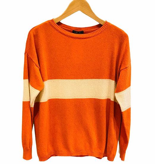 Luella Orange Sporty Cashmere Jumper