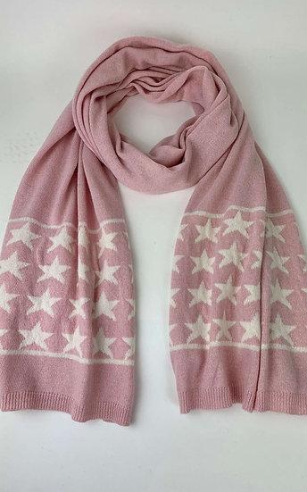 Cashmere Star Pink Scarf