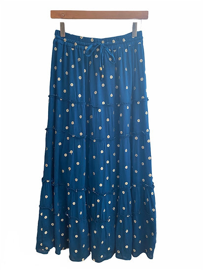 Italian Collection Blue Maxi Skirt