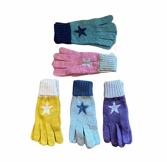 Wool Cosy Star Gloves