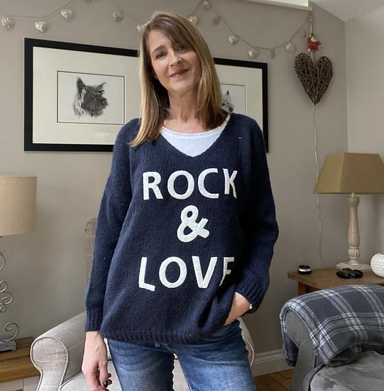 Rock & Love Navy Jumper
