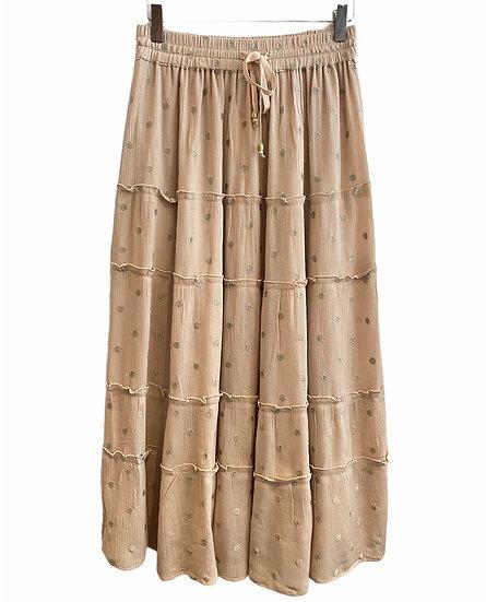 Italian Style Blush Maxi Skirt
