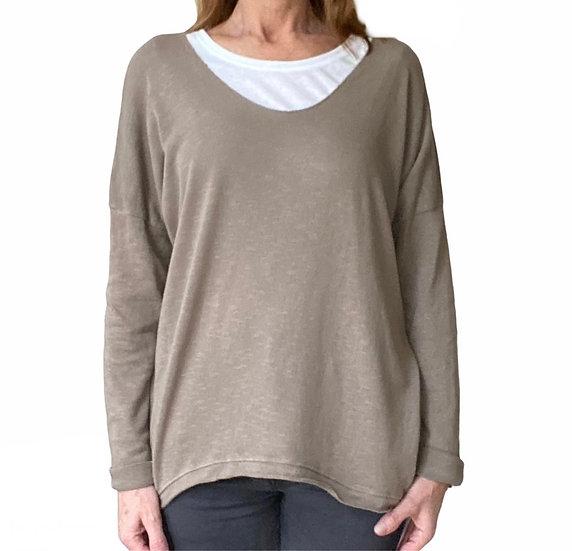 Ava Stone Cotton Jersey Top