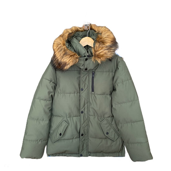 Khaki Padded Parka Coat