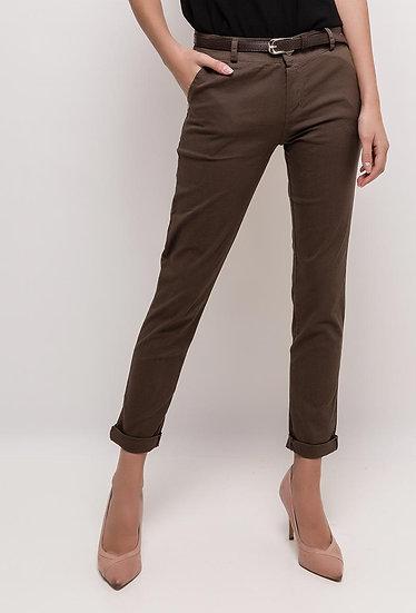 Moda Stretch Dark Brown Chino
