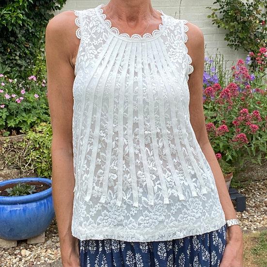 Parisian Style White Lace Top