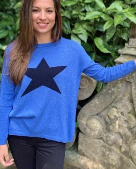 Luella Cashmere Mix Cobalt Jumper
