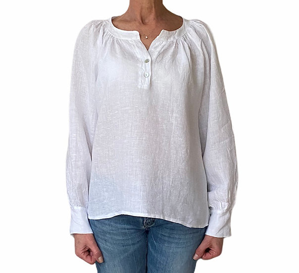Italian Collection White Linen Top