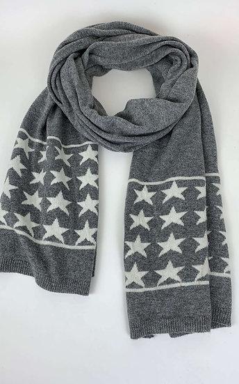 Cashmere Grey Star Scarf