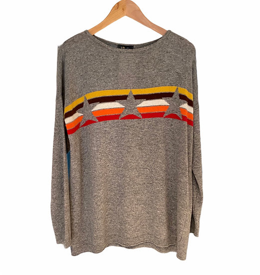 Cashmere and Wool Stars and Stripe Jumper