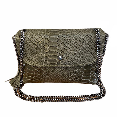Italian Collection Khaki Crossbody Bag