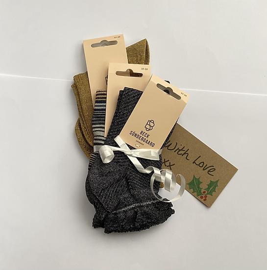 Becksöndergaard Gold Sparkly Sock Gift Set
