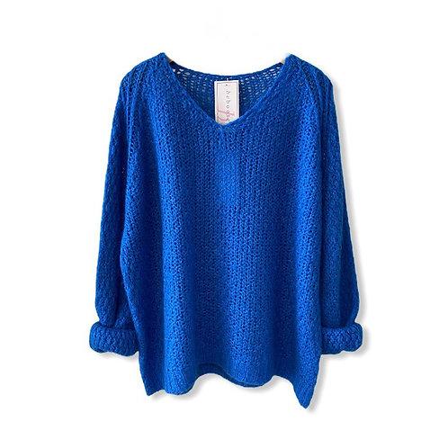 Chunky Knit Cobalt Jumper