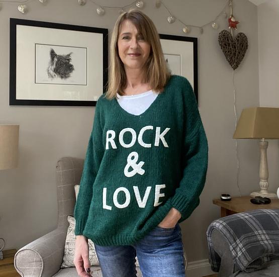 Rock & Love Viridian Green Jumper