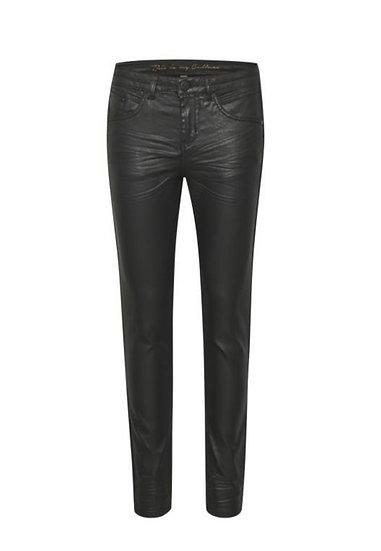 Culture DK Rebitta Coated Black Jeans