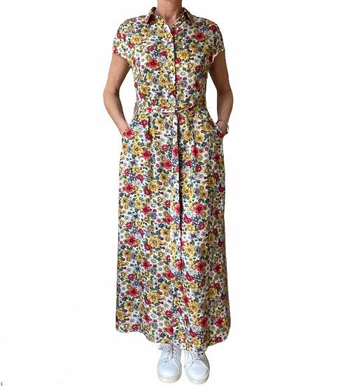 Italian Collection Floral Garden Shirt Dress