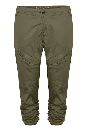 Culture Mille Cargo Style Olive Green Trousers