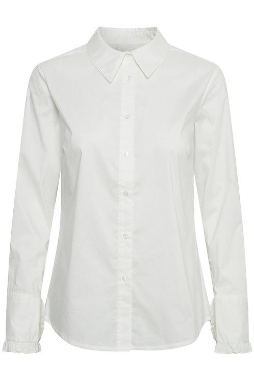 Culture Akita Frill Cuff White Shirt