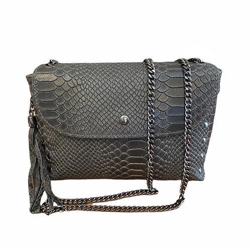 Italian Collection Dark Grey Crossbody Bag