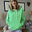 Thumbnail: Bright Green Luxe Hooded Sweatshirt