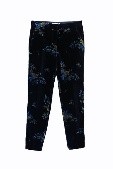 HOD Black Respiro Printed Velvet Trousers