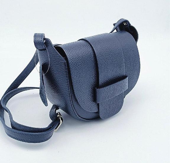 Navy Leather Small Crossbody Bag