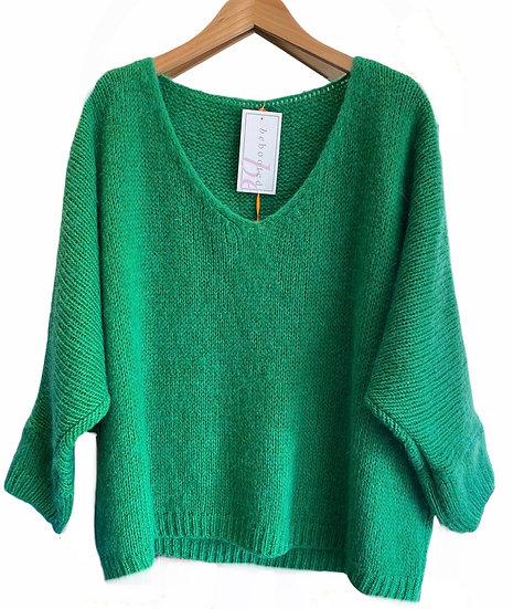Emerald Green Boxy Jumper