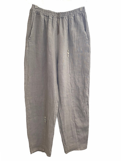 Italian Collection Stone Linen Trousers