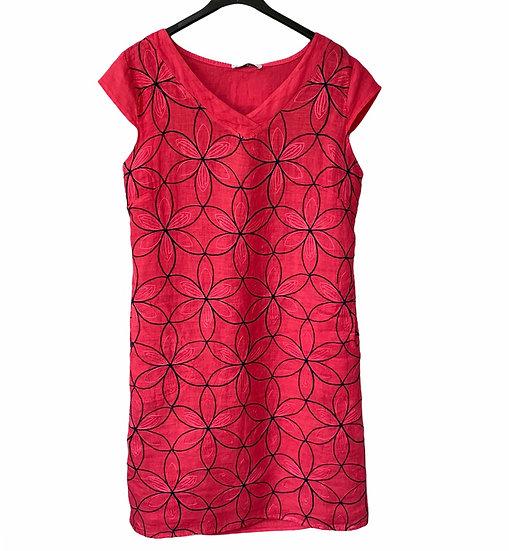 Italian Collection Raspberry Linen Dress