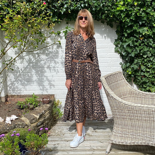 Parisian Style Brown Animal Print Dress