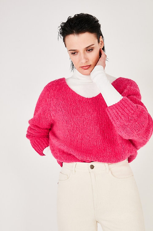 American Vintage Pink Chunky Knit Long Jumper