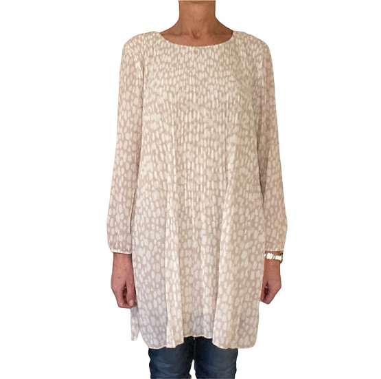 Rose Pleated Tunic Top