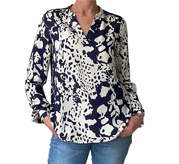 Culture Navy Print Blouse