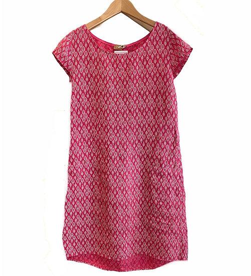 Italian Collection Raspberry Leaf Linen Dress