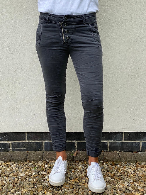 Parisian Style Luxe Melly Grey Jeans