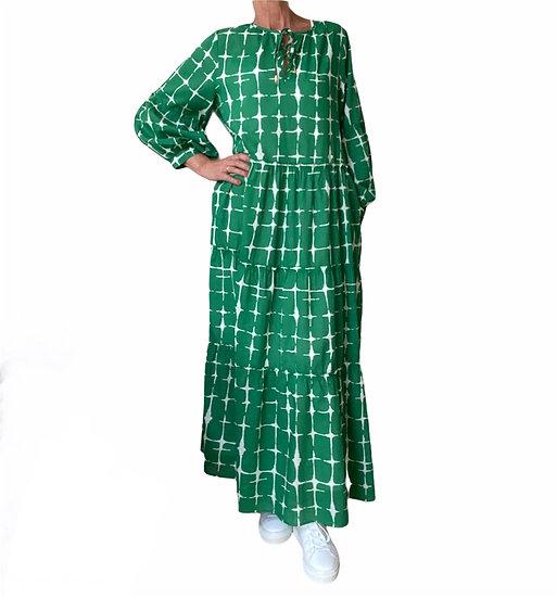 HOD Carmel Tie Dye Green Maxi Dress