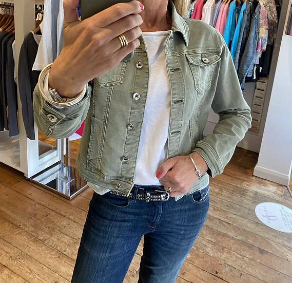 Pale Khaki Denim Jacket