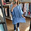 Thumbnail: Sadie Blue Cheesecloth Pocket Tunic Top