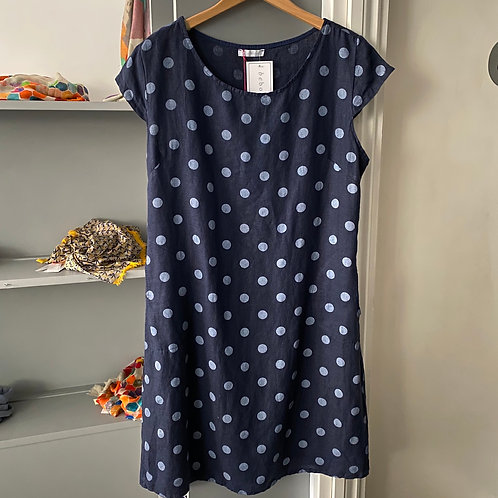 Italian Spotty Linen Dress