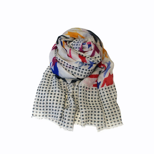 Kapre Multi Wool and Silk Scarf