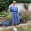 Thumbnail: Italian Collection Cornflower Blue Linen Dress