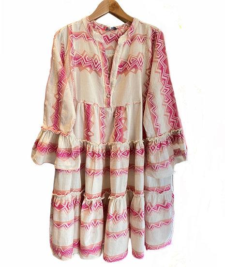 Fuchsia Tribal Tunic Dress