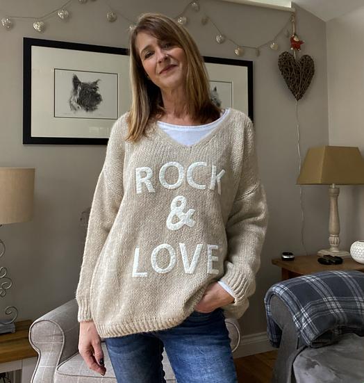 Rock & Love Beige Jumper