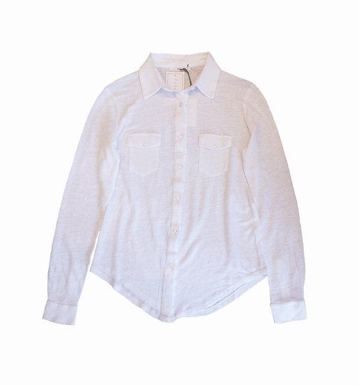 Hod Lavinia Jersey Linen Shirt In White