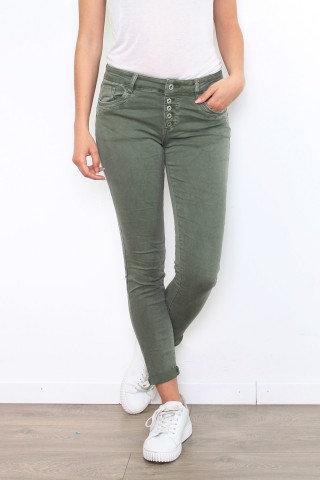 Parisian Style Luxe Melly Khaki Jeans