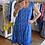 Thumbnail: Italian Collection Ditsy Print Royal Blue Dress