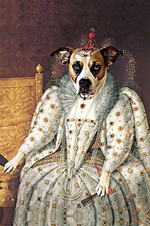 Queen Elizabeth on her Throne